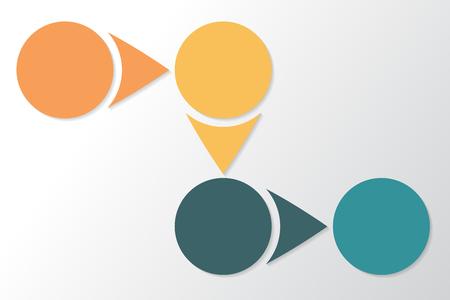 Infographic 4 parts, pieces, sections, options or steps. Colorful Vector Template. Illusztráció