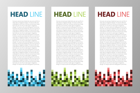Collection Of Retro Square Blocks Pixels Text Box For Web App Magazine