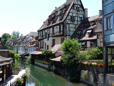 Half-timbered house on the river