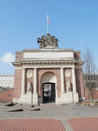 Berlin Gate in Wesel Stockfoto