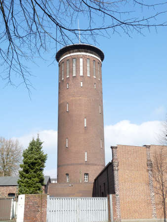 Historic Water Tower in Wesel Germany Фото со стока