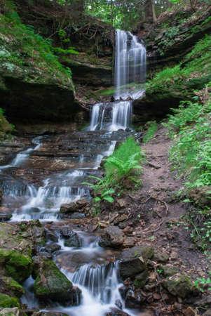 horseshoe falls: Horseshoe Falls, Munising, Upper Peninsula of Michigan, USA