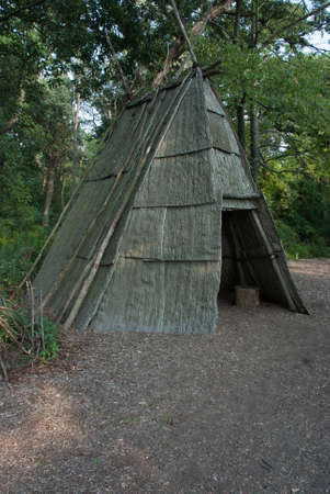 il: Indian teepee in the Grove National Historic Landmark - Glenview, IL Editorial