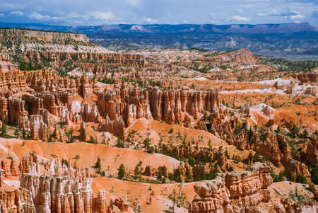 canyon: Bryce Canyon giant natural amphitheaters along the eastern side of the Paunsaugunt Plateau, Utah, USA