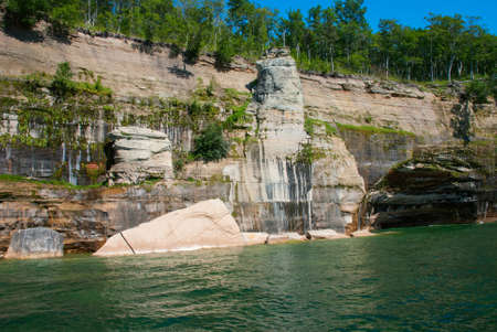 pictured: Painted rocks at Pictured Rocks National Lakeshore, Michigan, USA