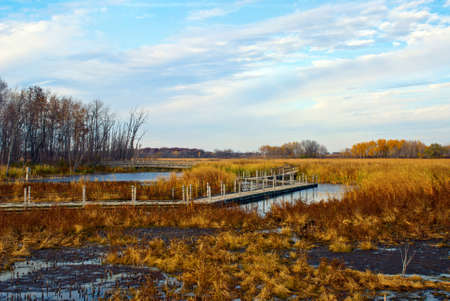 place to learn: Autumn Landscape with a view of Horicon Marsh, Wisconsin