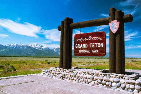 Entry to the Grand Teton National Park, Wyoming, USA