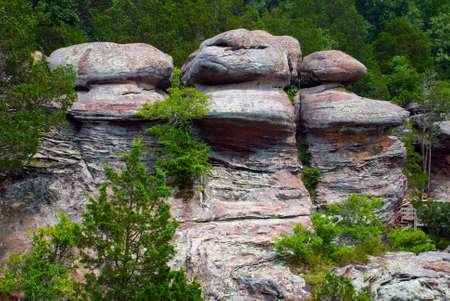 Stone Steps In Rocks Of Garden Of The Gods Wilderness In Shawnee ...