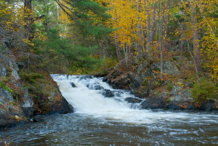 The beautiful Eighteen Foot Falls, Marinette county, Wisconsin