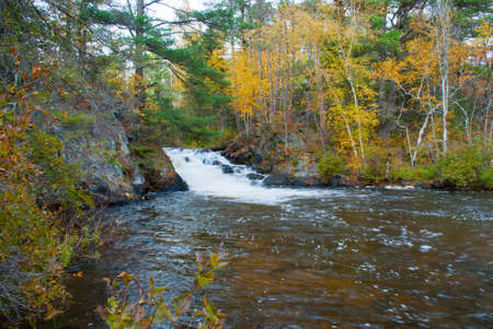 Eighteen Foot Falls are the largest of the foot Falls in Marinette County, Wisconsin, USA Stock Photo