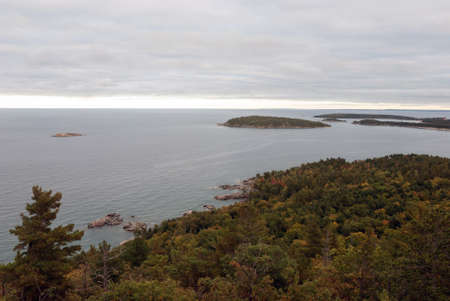 Lake Superior view from Sugarloaf Mountain, Marquette County, Michigan, USA