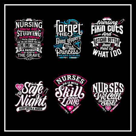 Nurse quotes was created with vector format. Can be used for digital printing and screen printing