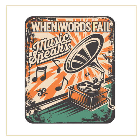 when words fail music speaks was created with vector format. Can be used for digital printing and screen printing