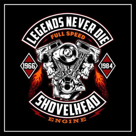 Legends never die was created with vector format. Can be used for digital printing and screen printing