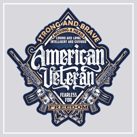 American Veteran was created with vector format. Can be used for digital printing and screen printing