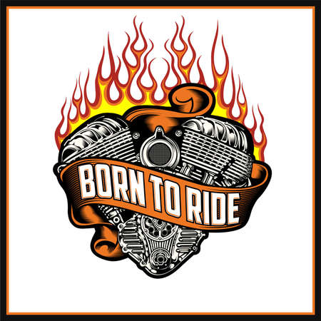 Born to Ride was created with vector format. Can be used for digital printing and screen printing