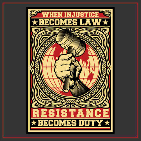 Resistance Becomes Duty was created with vector format. Can be used for digital printing and screen printing