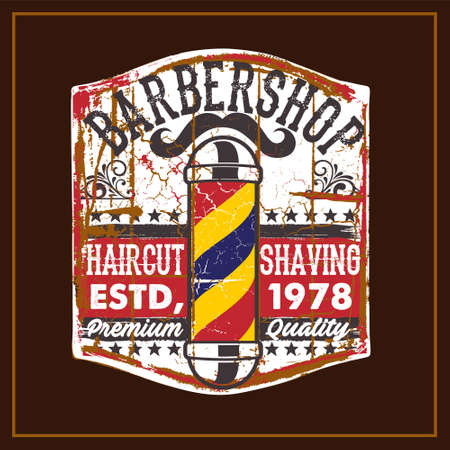 Barbershop was created with vector format. Can be used for digital printing and screen printing
