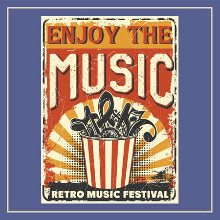 Enjoy The Music was created with vector format. Can be used for digital printing and screen printing