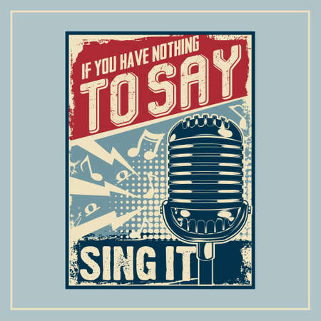 Sing It! was created with vector format. Can be used for digital printing and screen printing