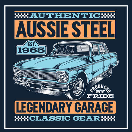 Aussie Steel was created with vector format. Can be used for digital printing and screen printing