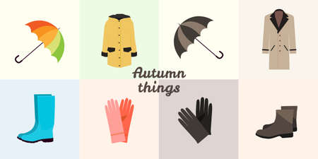 Autumn things set