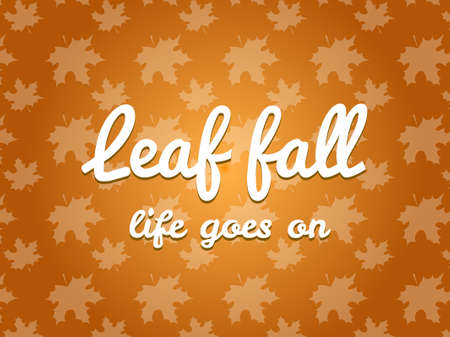 background pattern: Leaf fall pattern background