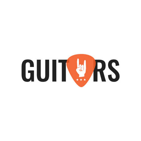 Vector logo best for musical instruments shop, music blog. Ready for web and press.