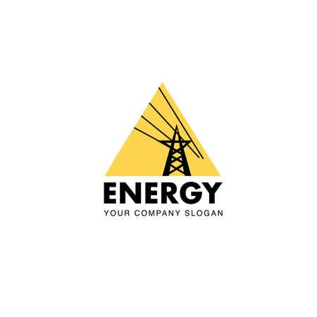 Energy company flat logo Illustration