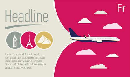 Tourism, travel agency advertising banner, poster. Illustration