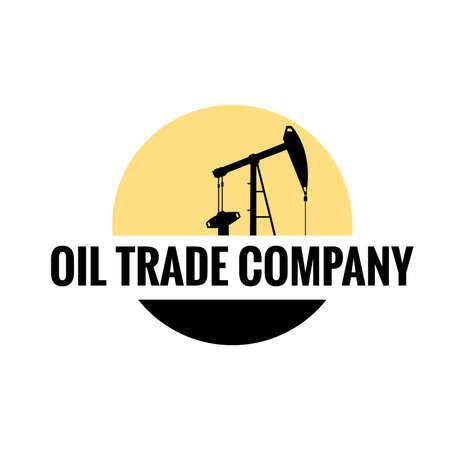Oil trade vector logo Illustration