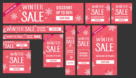 Winter sale Adwords banners pack