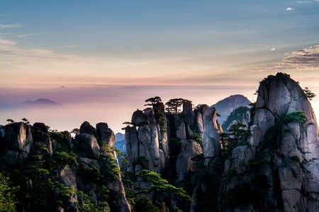 Huangshan mountain in Anhui, China