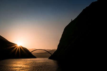 Yangzi river (Long river) in China photo