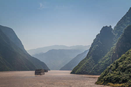 three gorges dam: Yangzi river (Long river) in China
