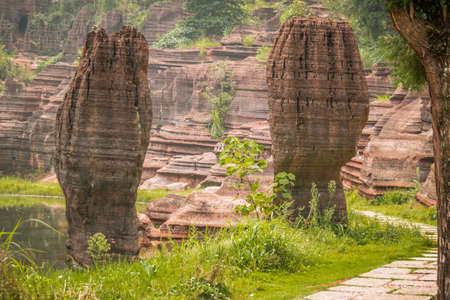 hunan: Red stone forest in Hunan province