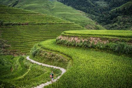 Dazhai village in Longji rice terraces, Guangxi province