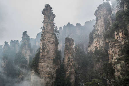 hunan: Zhangjiajie mountain, wulingyuan park, hunan, china