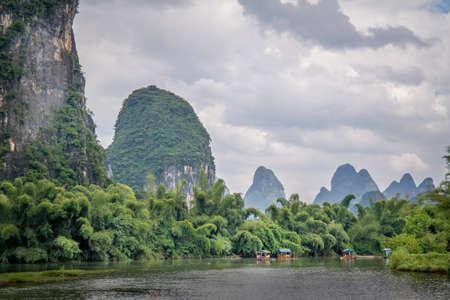 Li river in Yangshuo, next to Guilin, Guagxi province, China photo
