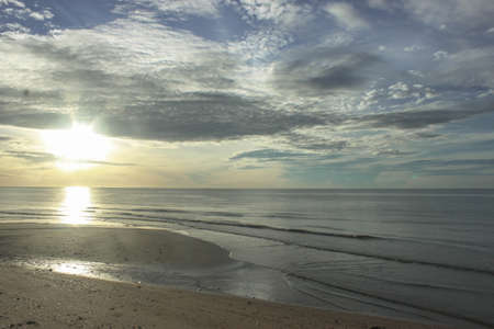 waive: sunrise at cha-am beach Stock Photo
