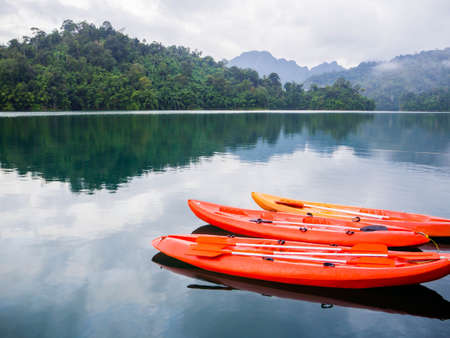 mountain lake in national park on south of Thailand