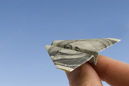 Airplane made from dollar banknote Stock Photo - 2752001