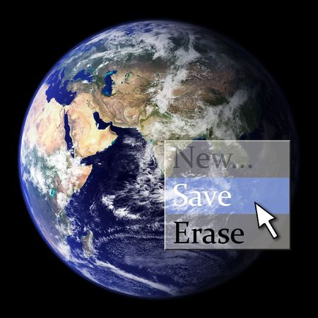 Save the Earth (context menu) Stock Photo - 2813776