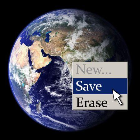 Save the Earth (context menu) Stock Photo - 2813775