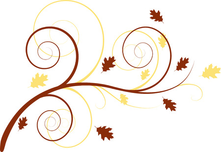 Autumn floral background Stock Vector - 3414739