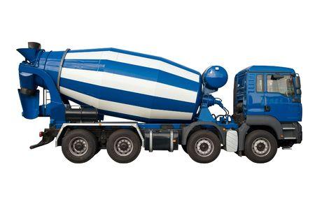 mezclador: Cami�n mezclador aisladas en blanco
