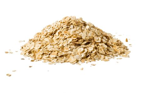 Closeup of oatmeal isolated on white