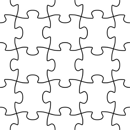 Nahtlose Vektor-Form der Puzzle-Spiel Standard-Bild - 3779365