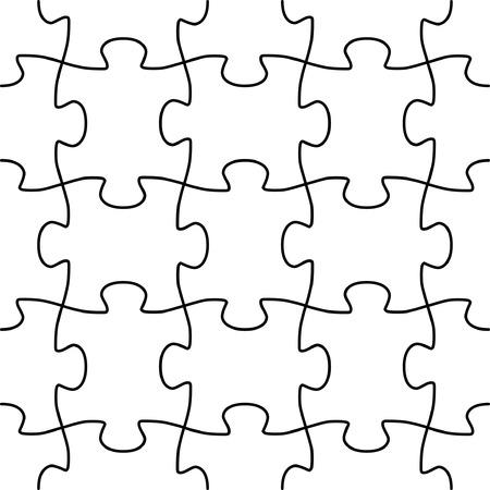 jigsaws: Seamless vector forma del gioco di puzzle Vettoriali