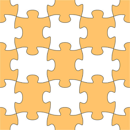 Seamless vector shape of puzzle game Vector